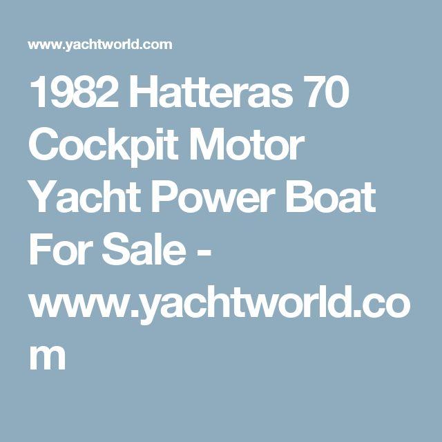1982 Hatteras 70 Cockpit Motor Yacht Power Boat For Sale - www.yachtworld.com