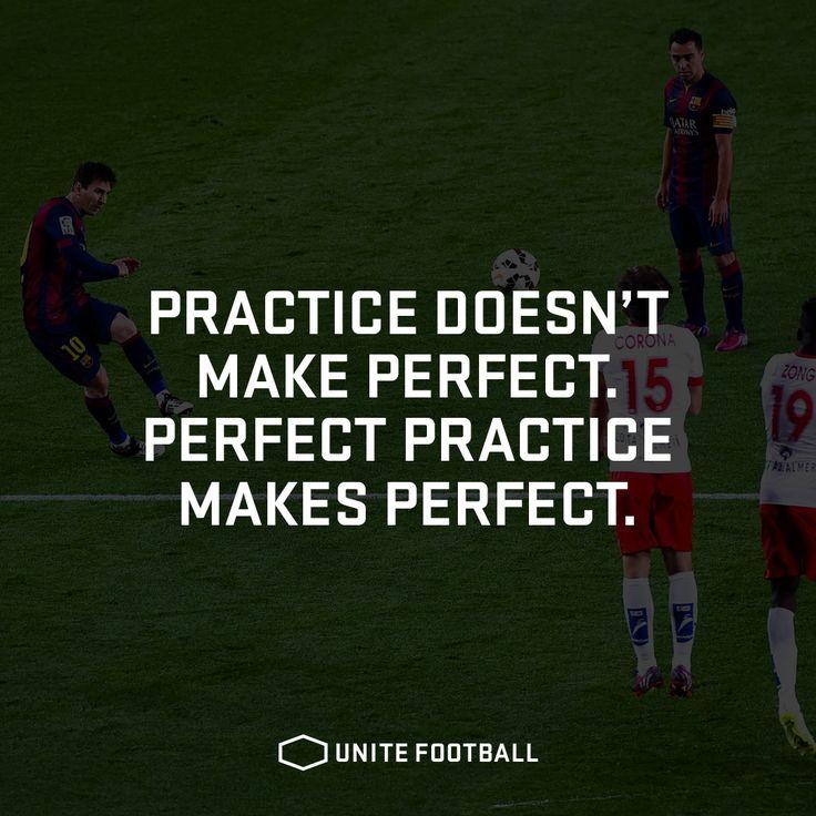 Practice doesn't make perfect. Perfect practice makes perfect. #UniteFootball #Football #Fotboll #Soccer #Quote #Motivational #Allsvenskan #PremierLeague #Laliga