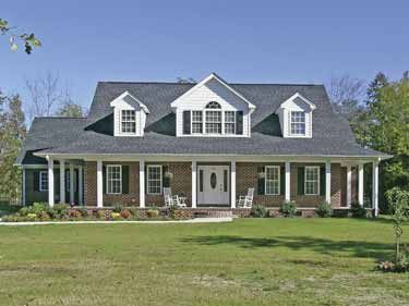 ff07566d5f06fe79f595fc6b30c5914d farmhouse home plans country house plans 188 best house plans images on pinterest,Single Story House Plans With Front Porch