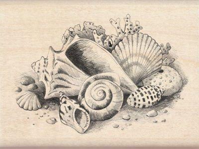 Inkadinkado® Seaside Still Life Wood Stamp