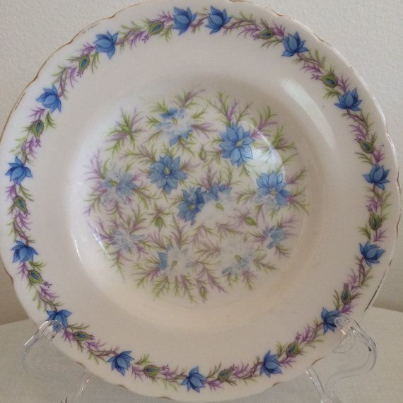 Tuscan China Love in the Mist  Blue Side by modernlookvintage