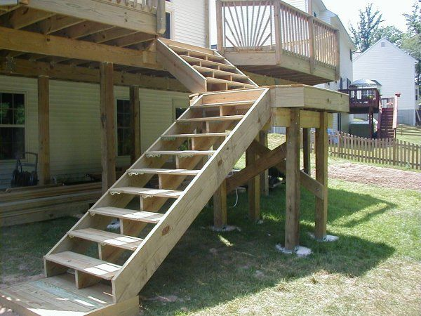 Build Wood Deck Stairs And Landing: 82 Best Images About Schody Na Taras On Pinterest