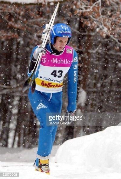 Wintersport / Ski Nordisch / Skispringen Vierschanzentournee 03/04 Bischofshofen Training Andreas KUETTEL / SUI 050104