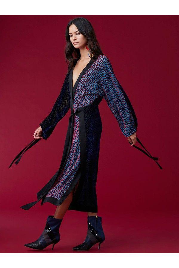 Image result for holiday burnout velvet kimono