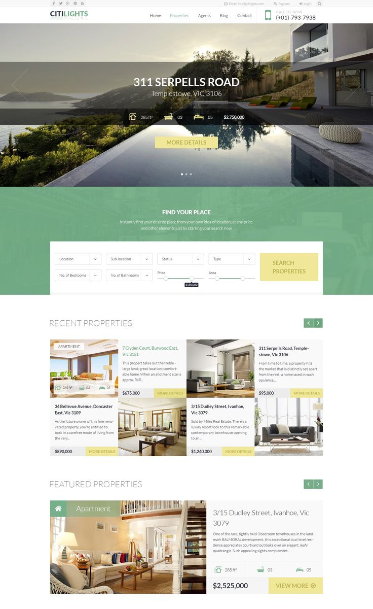 CITILIGHTS – REAL ESTATE PSD TEMPLATE