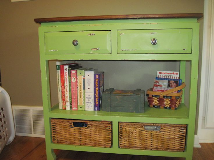 """In a different color but I like the idea of different """"storage""""..drawers, baskets etc..."""