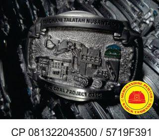 gesper tambang  produksi kepala sabuk atau merchandise dari logam plakat, cincin kalung, pin material pewter info lengkap wa / sms 081322043500 atau pin bbm 5719F391