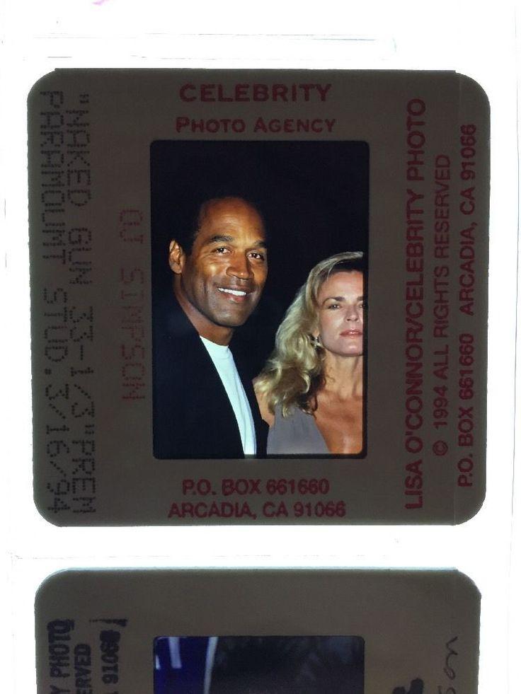 O.J & Nicole Brown Simpson Slides Celebrity Photograph Collection 35+
