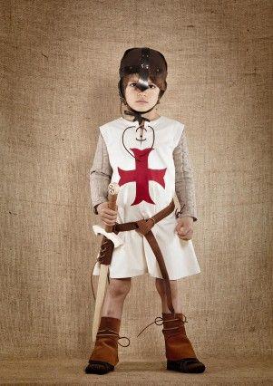 Costume enfant Gautier chevalier templier sans cape