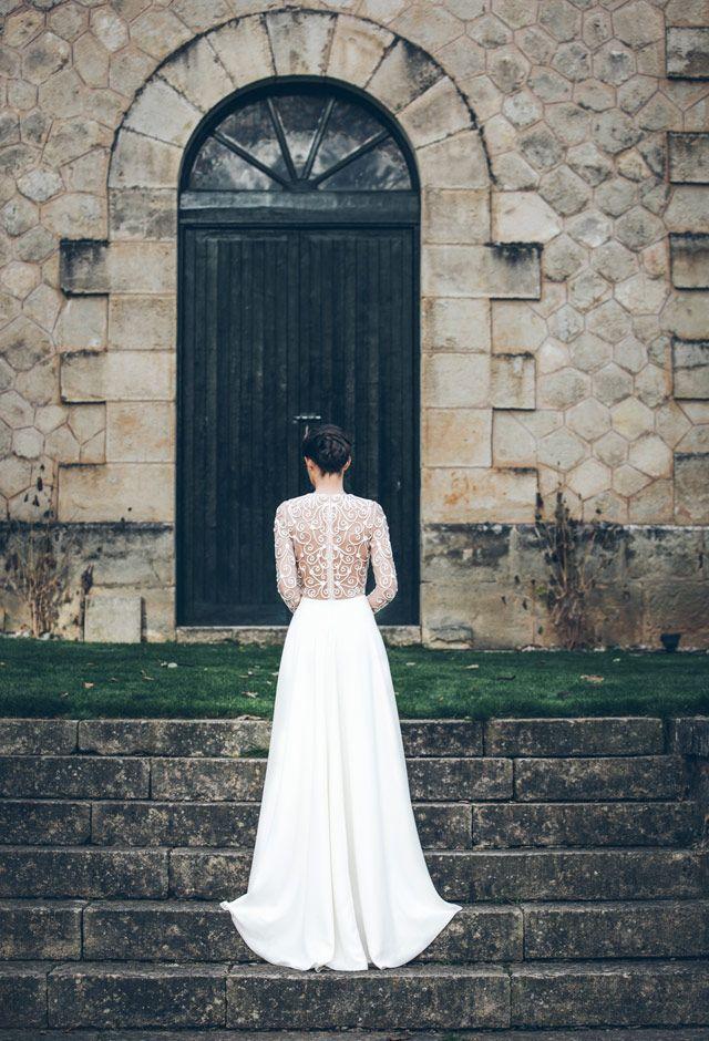 #Bodas de invierno: #vestido de novia con manga larga y detalle en la espalda <3 #love