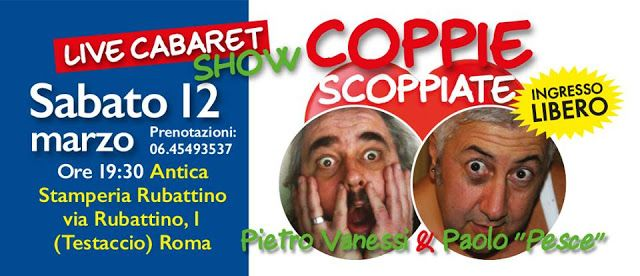 esistentepaziente: Coppie Scoppiate Live Show con Pietro Vanessi e Pa...