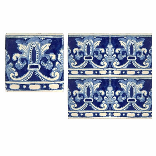 Classical Talavera Tile Design. Could be used as a detail in a room or all out as a wall covering!