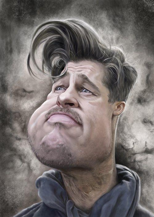 Brad Pitt Caricatures Image
