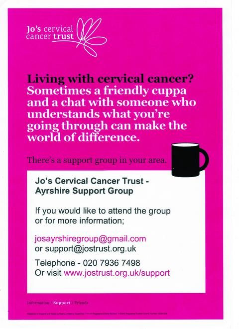 WOULD you like to have the support of other survivors of cervical cancer? Do you have all the information you need to help you through treatment? Discover more in our moving story by an Ayrshire resident and cancer survivor.