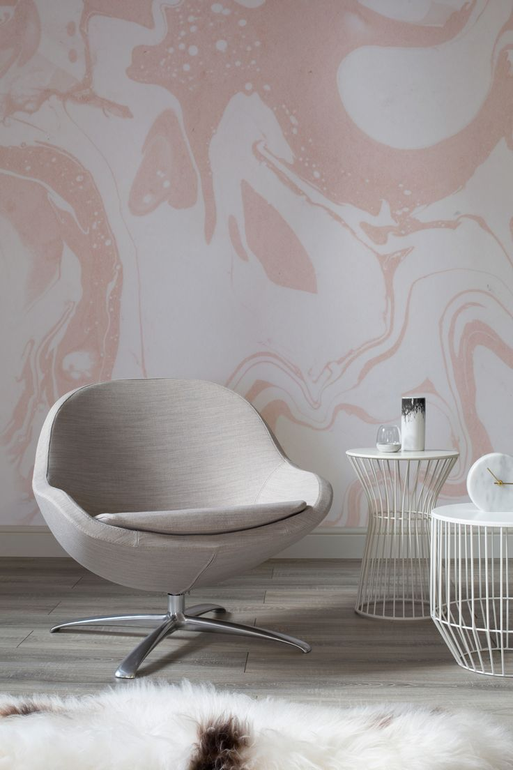 Modern interior wallpaper swatch - Understated Luxury Comes To Mind When Looking At This Beautiful Marbleized Wallpaper Design Pink And