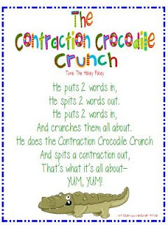 Great Poem to use when teaching contractions!: Teacher Stuff, Heather Heart, Language Art, Words Work, Crocodiles Pies, Crocodiles Crunches, Teaching Contract, Contract Crocodiles, 1St Grade