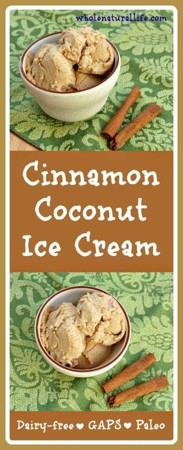 This cinnamon coconut ice cream is dairy-free, honey-sweetened, and suitable for the GAPS and Paleo diets. Make this easy ice cream today!