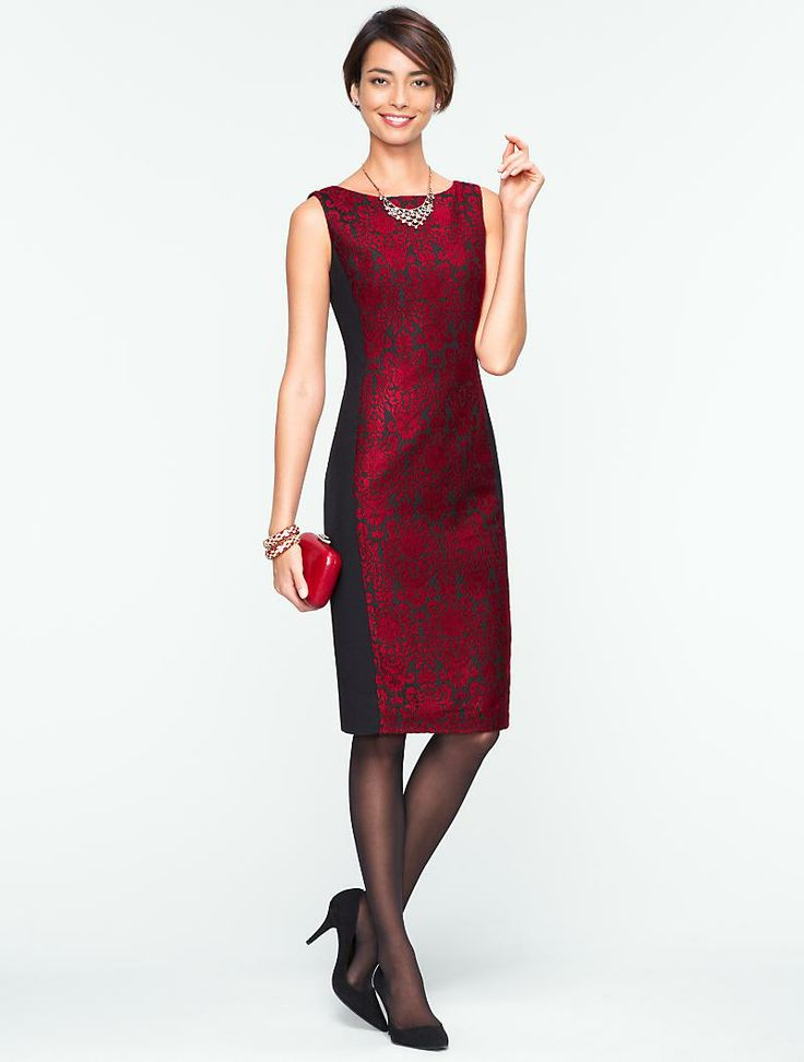 Talbots kingston jacquard dress events and occasions for Talbots dresses for weddings