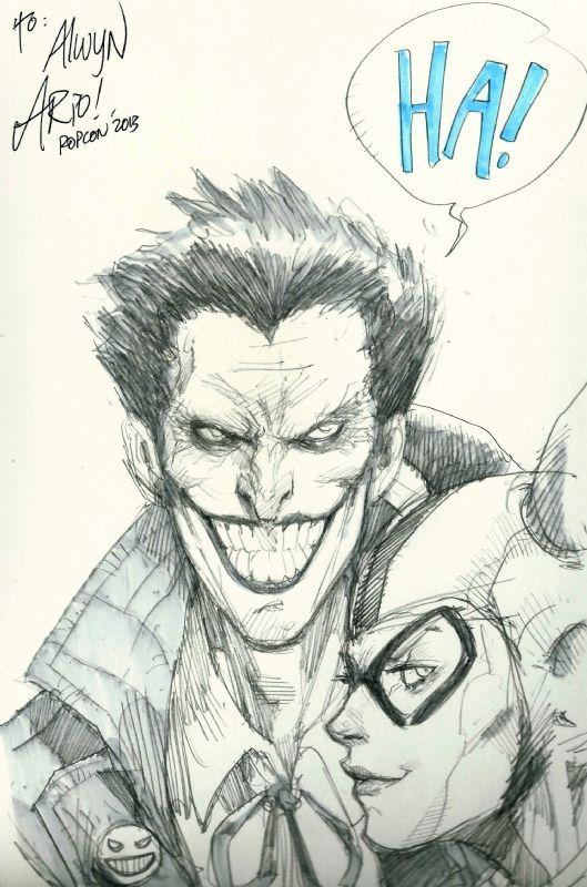Ario Anindito - Joker ( quick sketch )  Comic Art