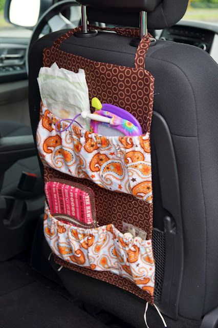tutorial on car seat organizer