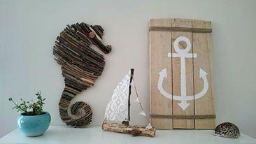 Nyár, dekoráció, saját készítésűek, csikóhal, horgony, hajó....Summer, decoration, self-made, seahorse, anchor, ship ....