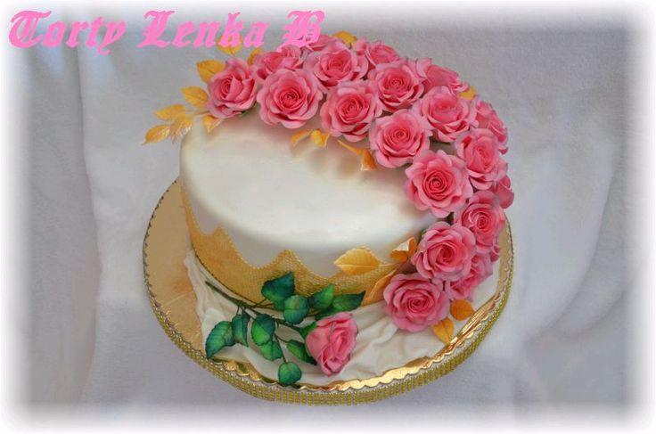 20 roses birthday cake