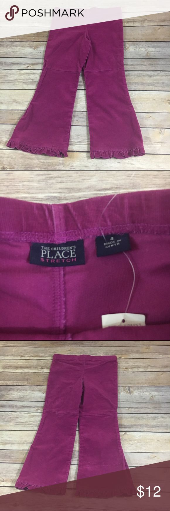 NEW NWT Children's Place Plum Magenta Cord Pants 4 NEW NWT Children's Place Plum Magenta Cord Pants 4  Elastic waist, stretch corduroy pants.  Flare leg with ruffle.  New with tag.  #new #nwt #magenta #cord #corduroy #pants #elasticwaist #plum #winter #winteriscoming #itsfallyall #fall Children's Place Bottoms Casual