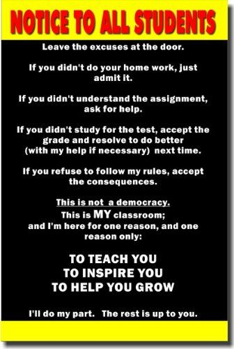 You're on notice!: Teacher Posters, Middle Schools, Students, Teacher Stuff, Schools Stuff, Classroom Motivational Posters, Classroom Motivation Posters, Notice, Classroom Ideas
