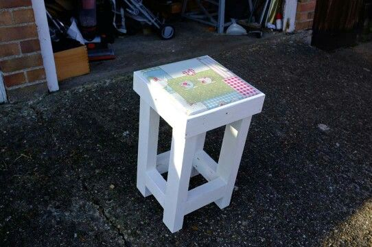 A stool I made for my Sister in law.