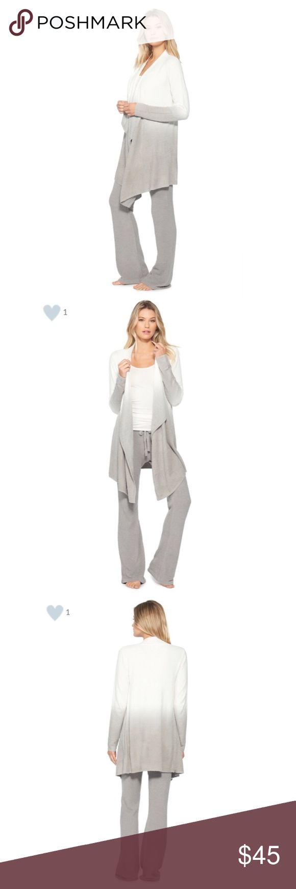 the COZYCHIC LITE® CALYPSO WRAP A best seller and wardrobe favorite.  This soft, sophisticated long sleeved wrap can be worn multiple ways and is ideal for any occasion.  Size S/M 80% Nylon, 20% Rayon from bamboo Barefoot Dreams Sweaters