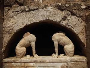 """""""The sphinxes are probably ready to reveal their secrets,"""" Show More: http://athenspath.com/2014/11/04/amphipolis-greek-tombs-give-lavish-riches/"""