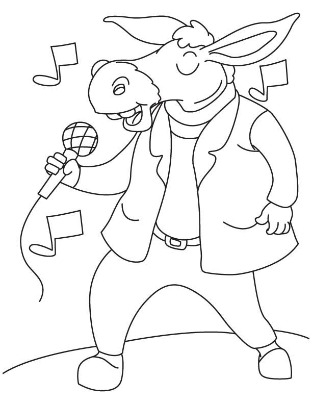 Singing Donkey Coloring Page Coloring Pages Coloring Pages For Kids Coloring Sheets