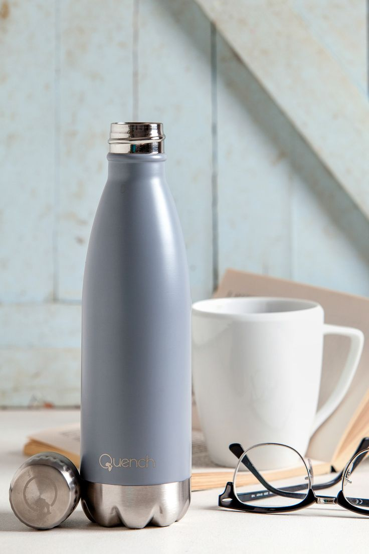 Quench Bottle Light Grey.                    Unbreakable double wall stainless steel insulated flask/bottle. Keeps any Beverage hot for 18 hours or cold for 24 hours.Visit GoodiesHub for the full range of exciting vibrant colours. GoodiesHub.com