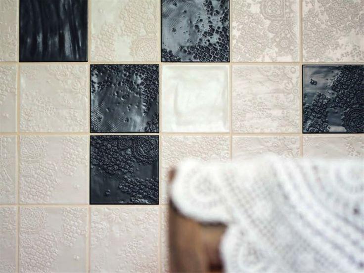 78 best toilet inspiratie images on pinterest toilets pavement and tiles - Zwart wit toilet ...