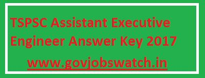 TSPSC Assistant Executive Engineer Answer Key 2017-6th August Exam Paper Solution|Expected Cutoff, TSPSC Asst Engineer paper Solution / Answer Key pdf