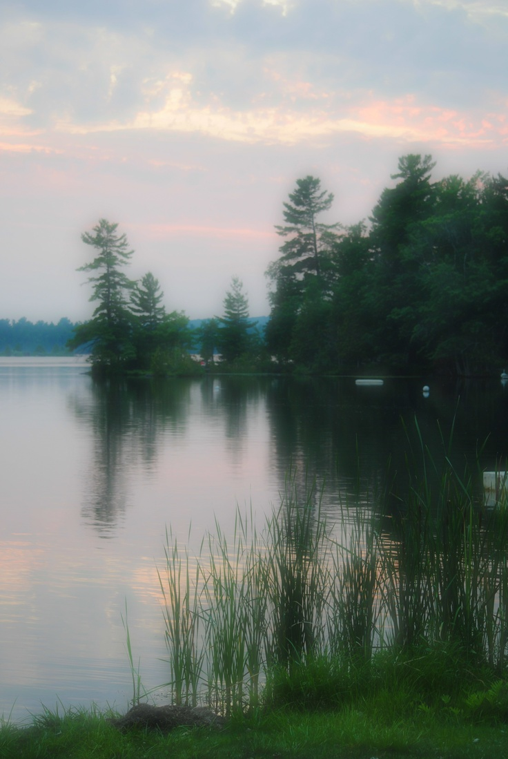 Summer picture from the cottage on Lovesick Lake