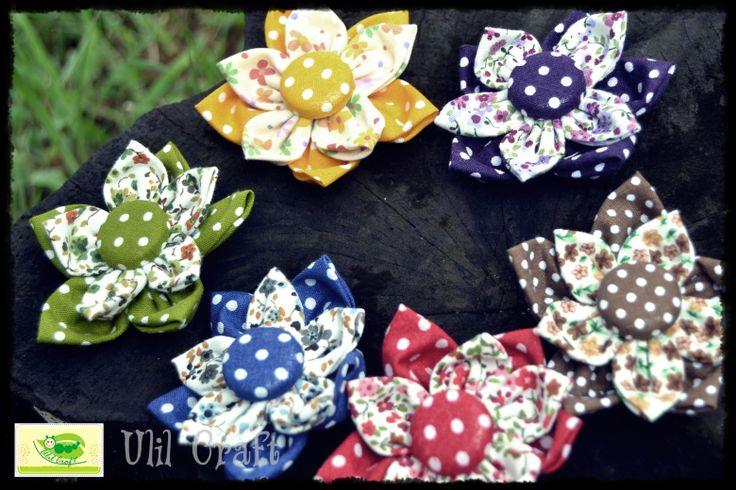 DIY-Fabric flower brooch