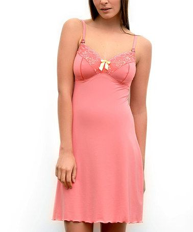 Take a look at this Coral Lisa Maternity & Nursing Babydoll by Cache Coeur on #zulily today!