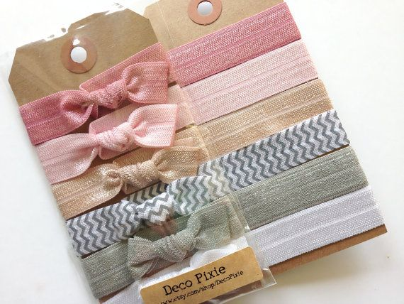 my new love..great hair ties! The Sheer Bliss Set 6 Elastic Hair Ties Creaseless by DecoPixie, $8.00