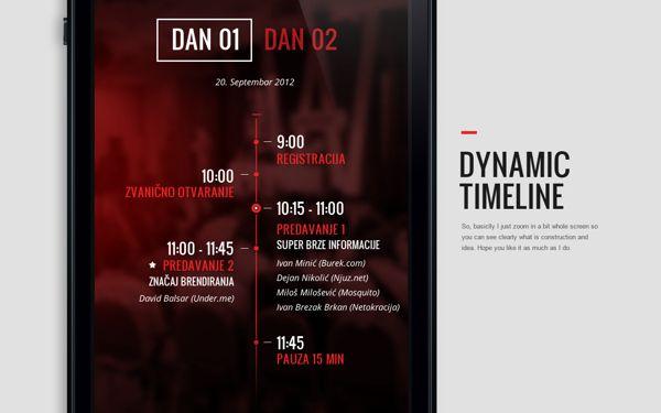 Dinamic Timeline - iPhone App by Nemanja Ivanovic, via Behance
