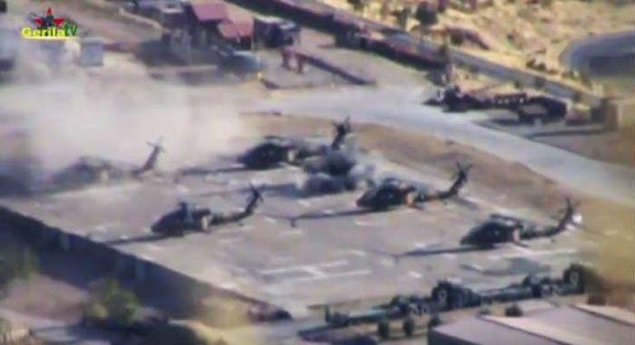 Το PKK καταστρέφει τουρκικά ελικόπτερα σε στρατιωτική βάση (ΒΙΝΤΕΟ)