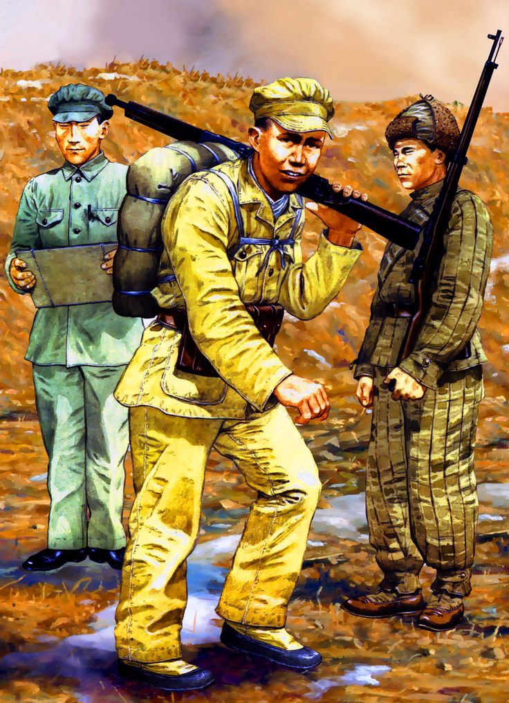Chinese People's Liberation Army on campaign, Korean War