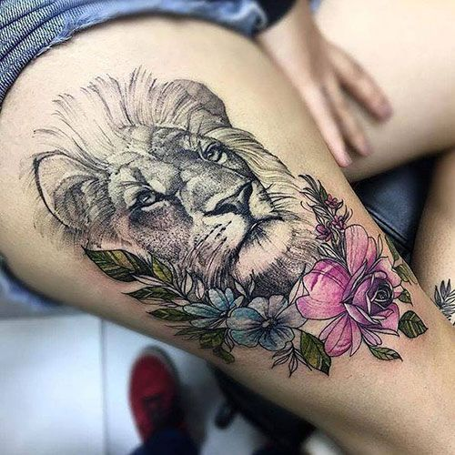 125 Best Thigh Tattoos For Women: Cute Ideas + Designs (2019 Guide) – Care.Groom…