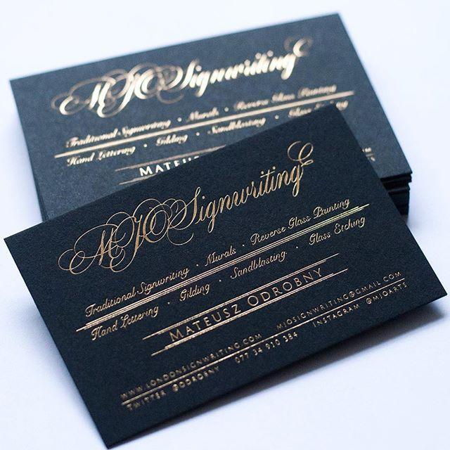 Gold Foil Stamping On Ebony Black Colorplan Printed By Dot Studio London Black Business Card Colorplan Paper Business Card Design