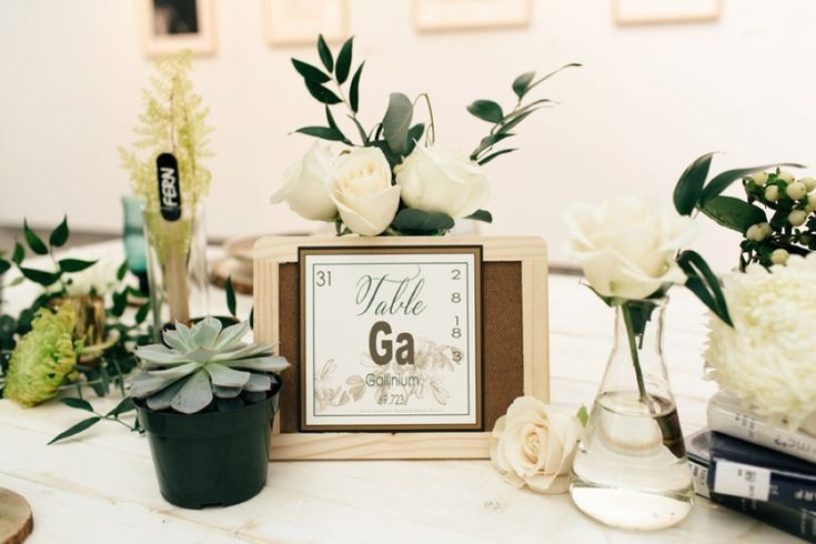 Eclectic Chemistry Inspired Wedding Ideas