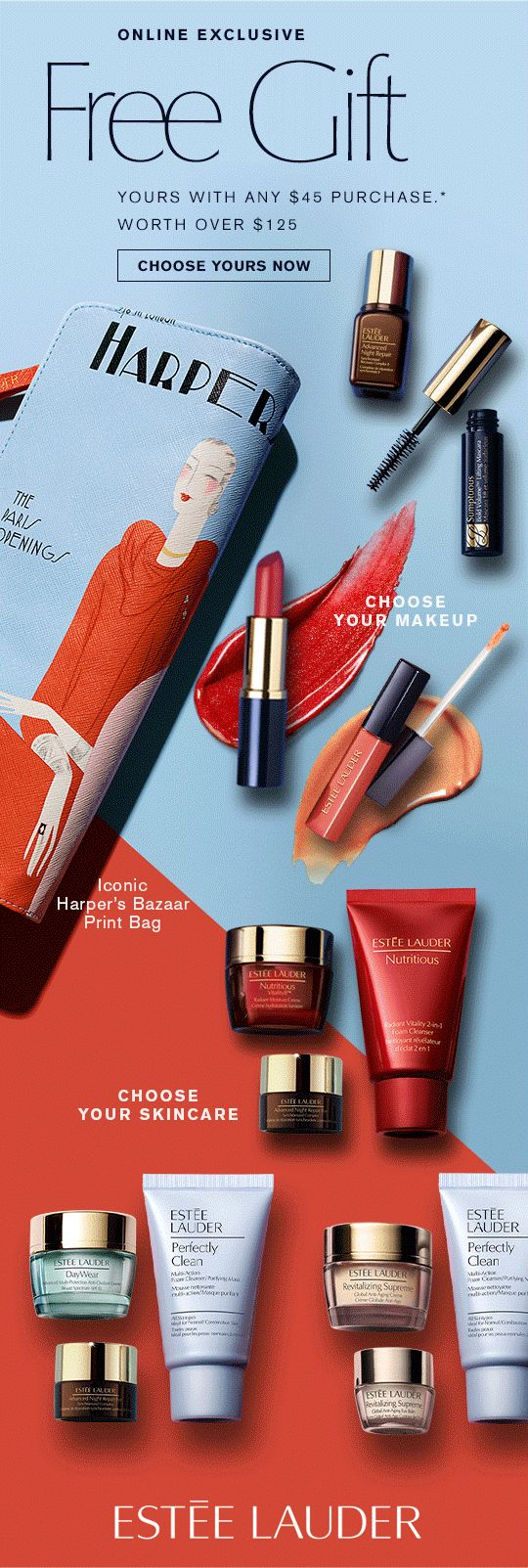 Your Free Gift Starts Today (with your purchase). #Sent : Jan 25th, 2015 #esteelauder #emails #newsletters