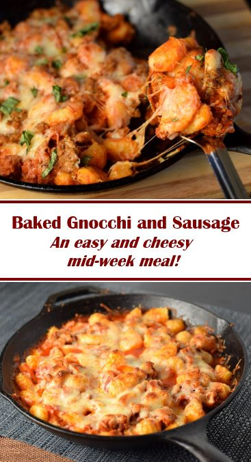 Baked gnocchi and sausage recipe