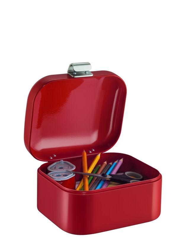 De klassieke Wesco Grandy in mini-formaat: de ideale bewaarplaats voor o.a. sieraden, cosmetica, medicijnen, naaigerei of bijvoorbeeld als kleine schatkist voor de kinderkamer.