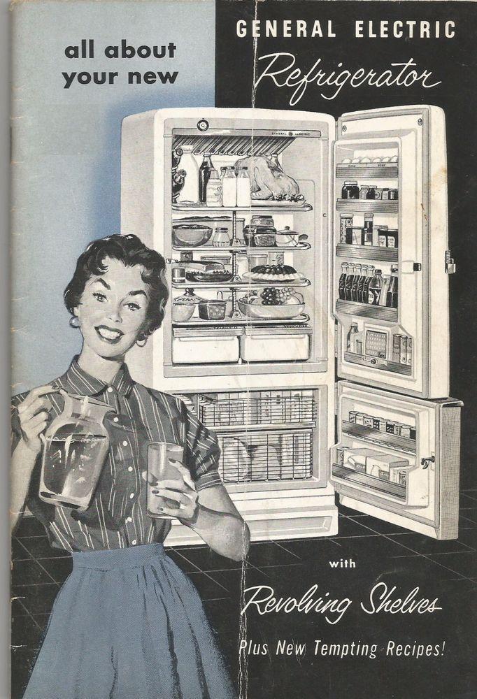 Vintage General Electric Refrigerator Instruction Manual Booklet