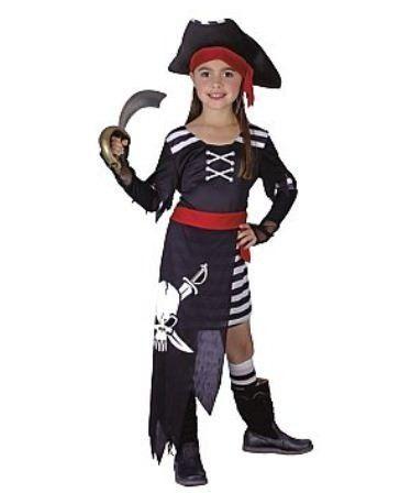 Piraten kleding voor meisjes #piraat #pratenpak #piratenkostuum